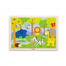 24 Piece Safari Animal Puzzle