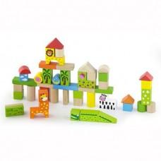 50 Piece Building Blocks - Zoo