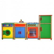Colourful 5 Piece Kitchen Set